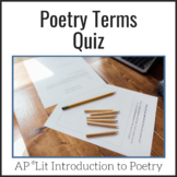 AP Lit Poetry Terms Quiz