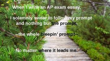 AP Lit Pre-Exam Essay Writing Pledge