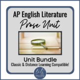 AP Lit Prose Analysis Unit | Classroom & Distance Learning