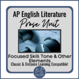 AP Lit Prose Lesson - Tone and Other Elements