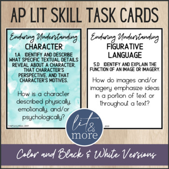 AP Lit Skill Task Cards