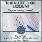 AP Lit Multiple Choice Assessment  - John Donne