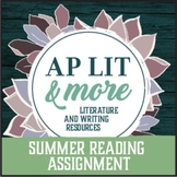 AP Lit Summer Reading Assignment