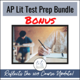 AP Lit Test Prep Unit BONUS Bundle