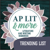 AP Literature Trending List