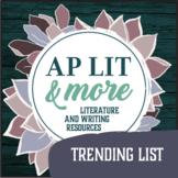 "AP Literature ""Trending List"""