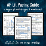 AP Lit Unit Calendar & Pacing Guide