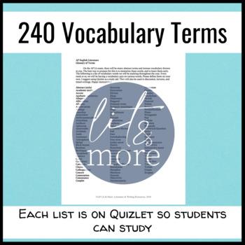 AP Lit Vocabulary Semester-Long Quiz Unit - Advanced Vocabulary Words
