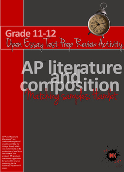 AP™ English Test Prep Review: Open Essay/Free Response Matching Samples