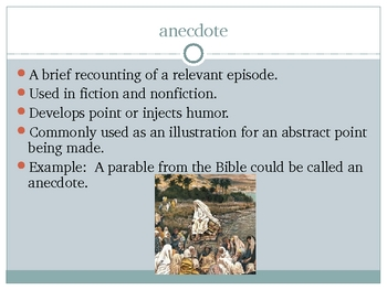 AP Literary Terms Powerpoint 88 slides