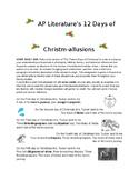 AP Literature 12 Days of Christm-allusions