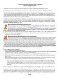 AP Literature American Dream Summer Assignment & Complete