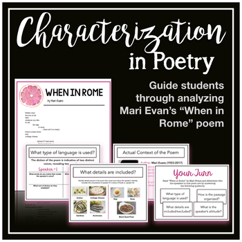 AP Literature Characterization, Voice, and Speaker in Poetry Mini-Lesson