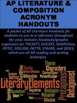 AP Literature & Composition Acronym Handouts