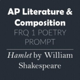 AP Literature & Composition FRQ 1 Poetry Prompt A Soliloqu