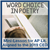 AP Literature Diction in Poetry (CED Poetry Unit 2)