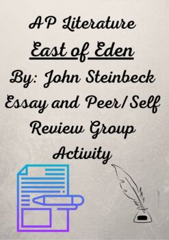 AP Literature East of Eden Essay Peer/Self Review Group Activity
