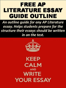FREE AP Literature Essay Guide Outline