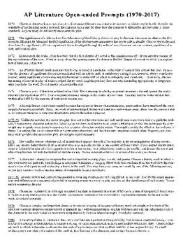 AP Literature Essay Planning Guide