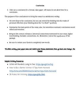 AP Literature Essay Planning Notesheet