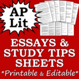 AP Literature Essays & Study Tips Collection