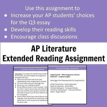 AP Literature Extended Reading Assignment - Q3 Prompt Preparation