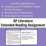 AP Literature Extended Reading Assignment - Q3 Prompt Preparation