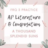AP Literature FRQ 3 Literary Argument Prompt Practice A Th