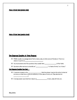 AP English Literature Free Response Guided Notes (pair with PowerPoint)