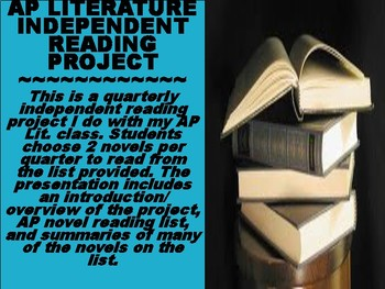 AP Literature Independent Reading Project