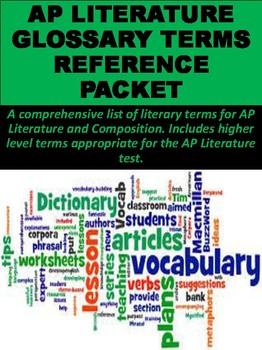 AP Literature Literary Glossary Terms