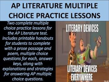 AP Literature Multiple Choice Practice Lessons