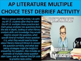 AP Literature Multiple Choice Practice Test Debrief Activity
