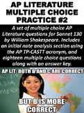 AP Literature Multiple Choice Question Practice #2