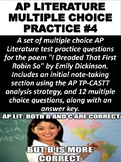 AP Literature Multiple Choice Question Practice #4