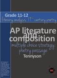 AP™ English Multiple Choice Reading Strategy: Poetry Literary Analysis-Tennyson