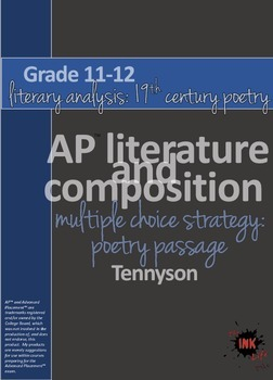 AP™ English Multiple Choice Reading Strategy: Poetry Literary Analysis-Tennyson