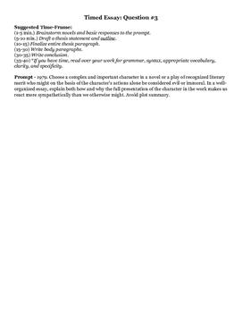 AP Literature Novel Review Study Guide