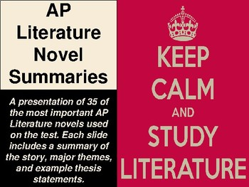 AP Literature Novel Summaries