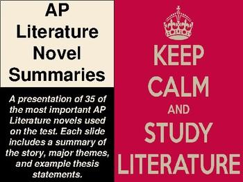 AP Literature Novel Summaries