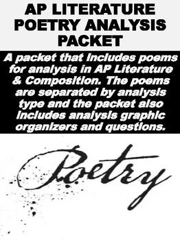 AP Literature Poetry Analysis Packet