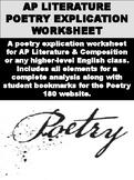 AP Literature Poetry Explication Worksheet