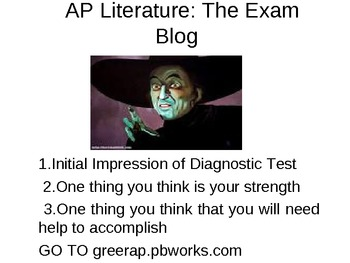 AP Literature Power Point-Initial Impressions