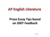 AP Literature Prose Essay Help