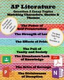 AP Literature Question 3 Essay Prompts