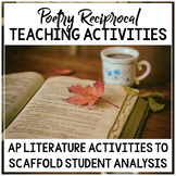 AP Literature Poetry Reciprocal Teaching Activity