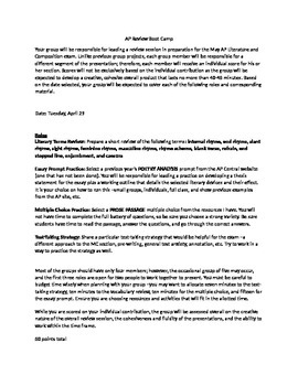 AP Literature Review Boot Camp