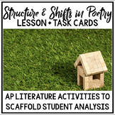 AP Literature Structure and Shifts in Poetry Lesson (CED P