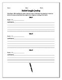 AP Literature Student Samples Grading Sheet