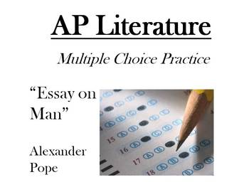 "AP Literature Style Multiple Choice Passage - ""An Essay on Man"" Alexander Pope"